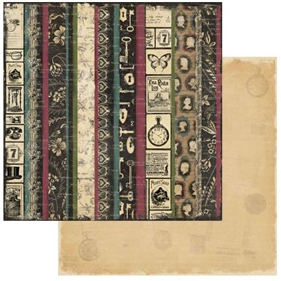 TPC Studio -Memory Lane Collection - 12X12 Paper - Legacy Stripe