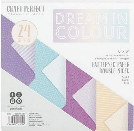 "Tonic Studios - Dream In Color Patterned Card 6""x6"" Paper Pad"