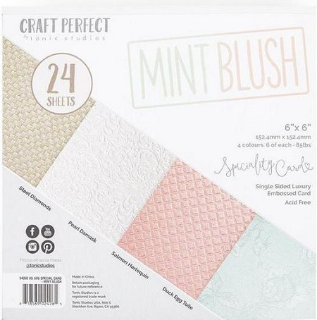 "Tonic Studios - Mint Blush Specialty Card 6""x6"" Paper Pad"