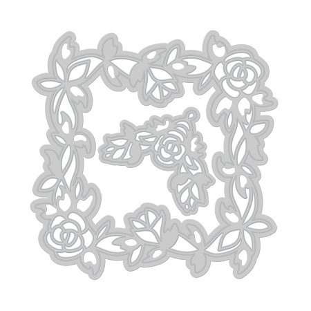 Tonic Studios - Cutting Die - Rose Deco Frame Die Set (set of 2 dies)
