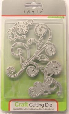 Tonic Studios - Cutting Die - Frond Finesse Floral Flourish Embellishment Die Set (set of 3 dies)
