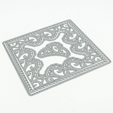 Tonic Studios - Cutting Die - Twisted Twine Square Doily Intrica Die Set (set of 5 dies)
