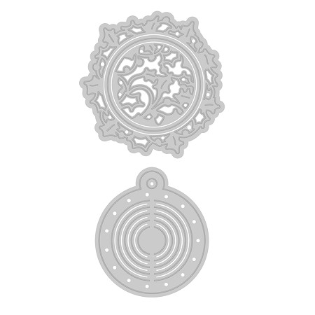 Tonic Studios - Cutting Die - Wreath Bauble Die Set (set of 4 dies)
