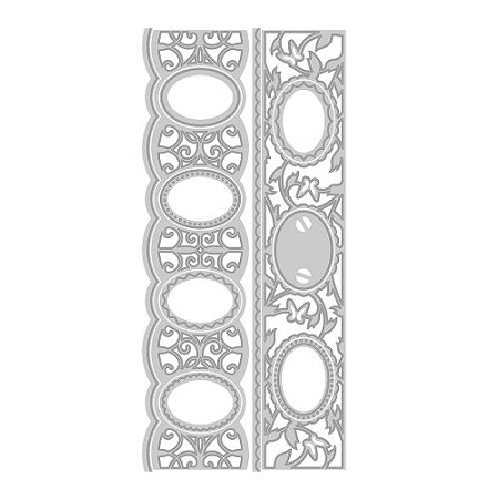 Tonic Studios - Cutting Die - Cameo Creatives Butterfly Bracelet Verso Strip Die Set (set of 11 dies)