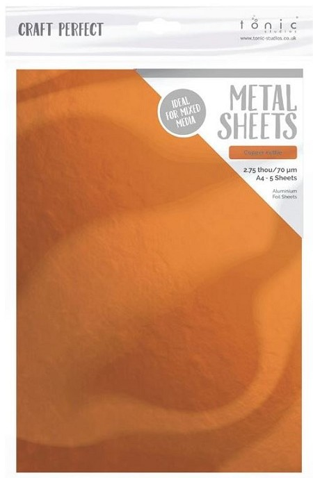"Tonic Studios - Craft Perfect Metal Sheets - A4 Copper Kettle (8.25""x11.75"")"