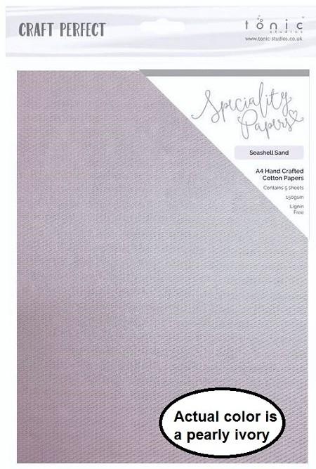 "Tonic Studios - Craft Perfect Specialty Paper - A4 Seashell Sand (8.25""x11.75"")"