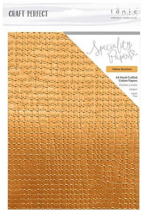 "Tonic Studios - Craft Perfect Specialty Paper - A4 Yellow Bamboo (8.25""x11.75"")"
