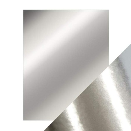 "Tonic Studios - Craft Perfect Cardstock - Chrome Silver 5 sheets Mirror High Gloss 8.5""x11"""