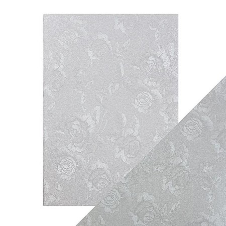 "Tonic Studios - Craft Perfect Luxury Embossed Cardstock - A4 Steel Toile (8.25""x11.75"")"