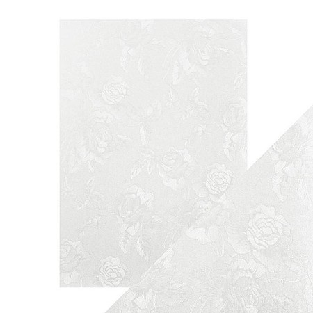 "Tonic Studios - Craft Perfect Luxury Embossed Cardstock - A4 Ivory Toile (8.25""x11.75"")"