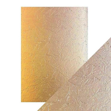 "Tonic Studios - Craft Perfect Luxury Embossed Cardstock - A4 Golden Leaves (8.25""x11.75"")"
