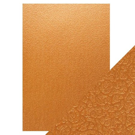 "Tonic Studios - Craft Perfect Luxury Embossed Cardstock - A4 Bronze Labyrinth (8.25""x11.75"")"