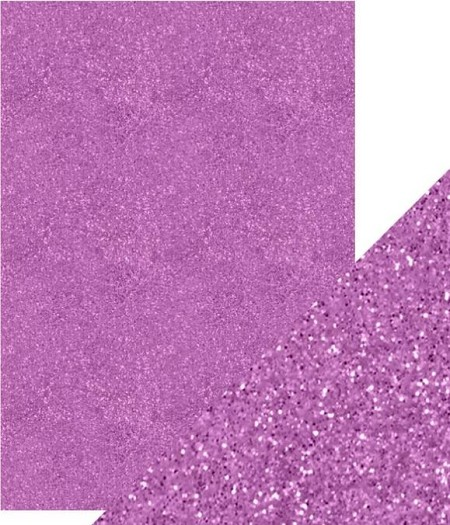"Tonic Studios - Craft Perfect Cardstock - 5 sheets Glitter Berry Fizz 8.5""x11"""