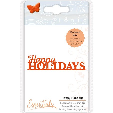 Tonic Studios - Essentials Cutting Die - Happy Holidays Christmas Sentiment