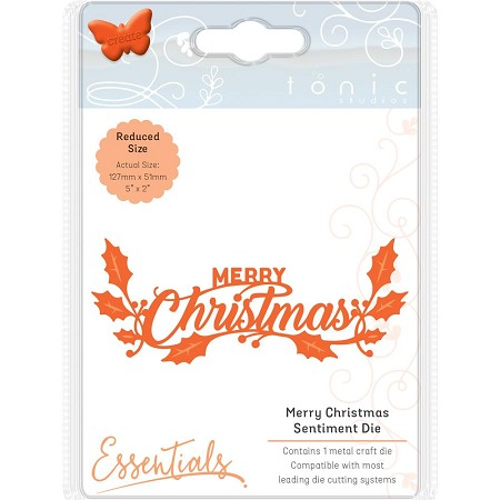 Tonic Studios - Essentials Cutting Die - Merry Christmas Sentiment Die