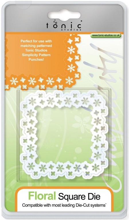 Tonic Studios - Simplicity Die Cutting Templates - Floral Square