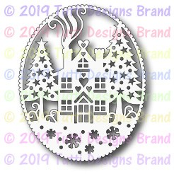 Tutti Designs - Cutting Die - Winter House Frame