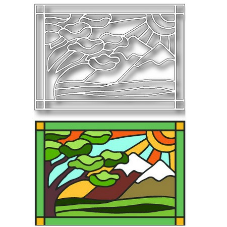 Tutti Designs - Landscape Stained Glass