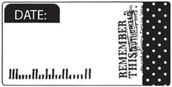 Unity Cling Rubber Stamp - Echo Park Remember this Date