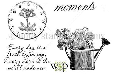 Unity Cling Rubber Stamp Set - Webster's Pages Every Moment