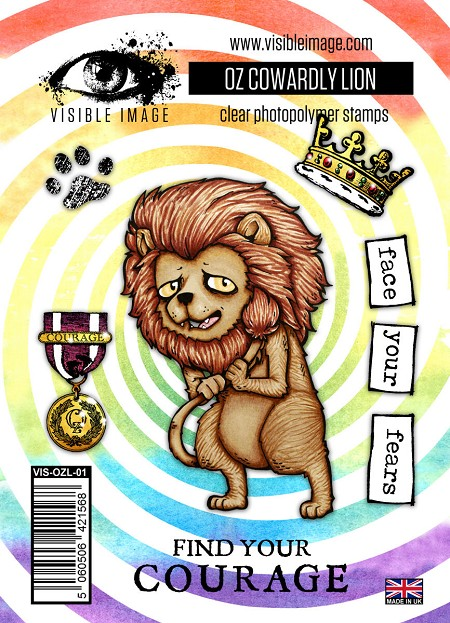 Visible Image - Clear Stamp -  OZ Cowardly Lion