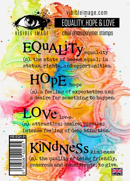 Visible Image - Clear Stamp - Equality Hope & Love