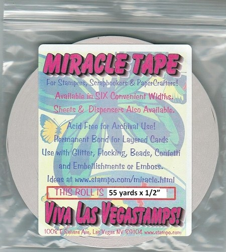 "Miracle Tape - Double Sided Tape Roll 1/2"" x 55 yds"