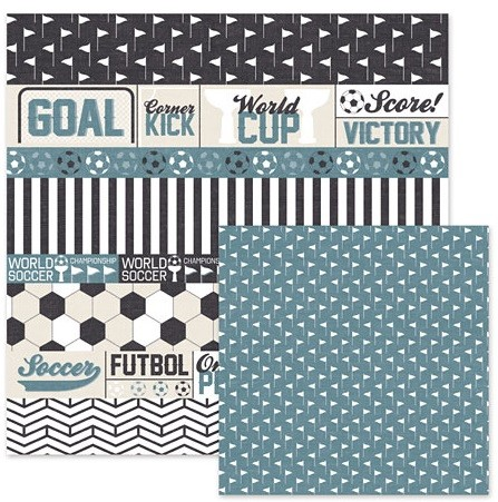 "We-R-Memory Keepers - Game Day Collection - 12""x12"" Double-Sided Paper - Soccer"