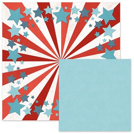 "We-R-Memory Keepers - Red White Blue 12""x12"" Paper - Seeing Stars"