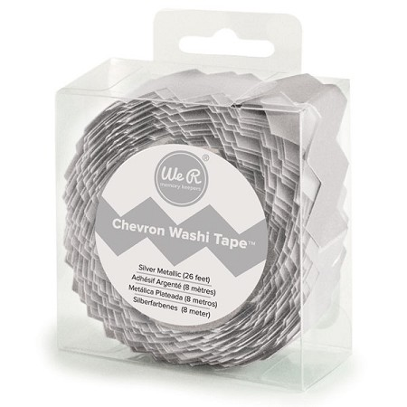 We-R-Memory Keepers -  Chevron Washi Tape - Silver