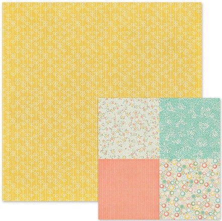 "We-R-Memory Keepers - Simply Spring - 12""x 12"" Cardstock - Daffodil"