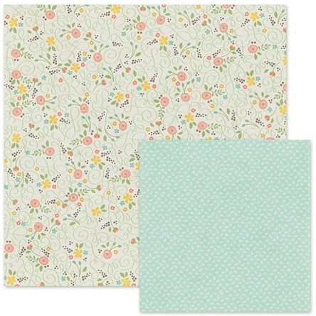 "We-R-Memory Keepers - Simply Spring - 12""x 12"" Cardstock - Blossoms"