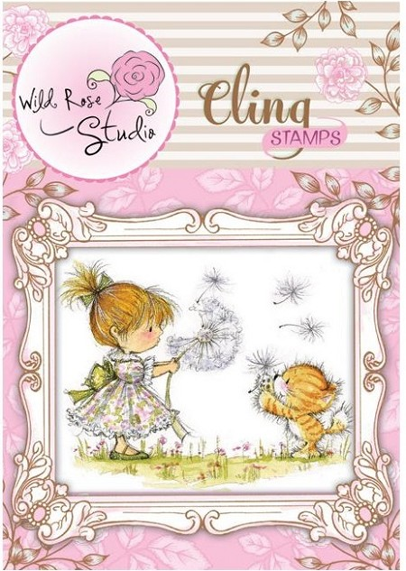 Wild Rose Studio - Cling Stamp - Emily with Dandelion