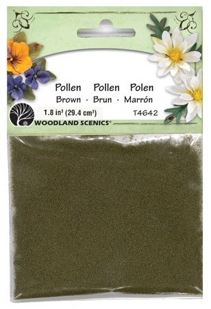 Woodland Scenics - Paper Flower Pollen - Brown