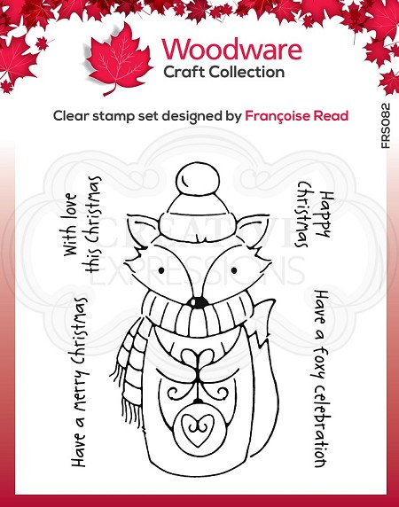 Woodware Craft - Clear Stamp - Foxy Christmas
