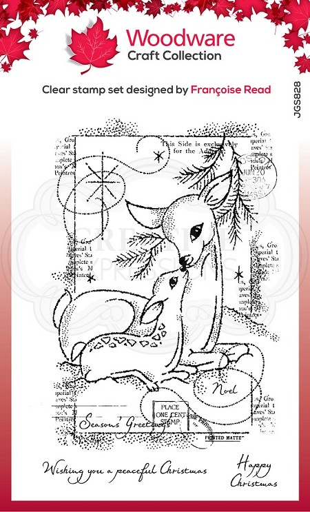 Woodware Craft - Clear Stamp - Baby Deer