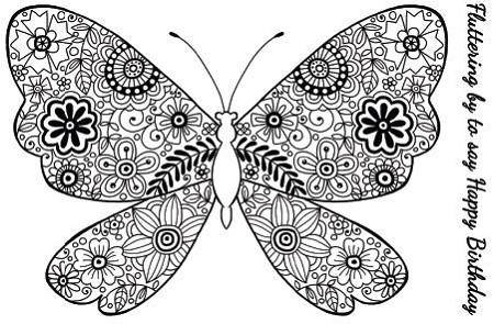Woodware Craft - Clear Stamp - Decorative Butterfly :)