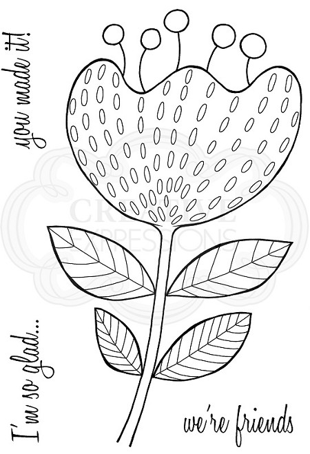 Woodware Craft - Clear Stamp - Bold Blooms Katrina