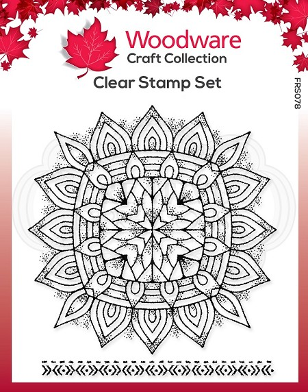 Woodware Craft - Clear Stamp - Mandala Two
