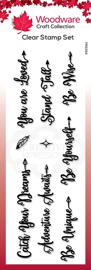 Woodware Craft - Clear Stamp - Boho Sentiments
