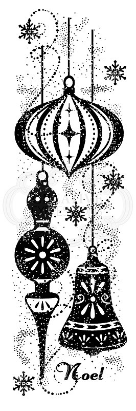Woodware Craft - Clear Stamp - Sparkly Baubles