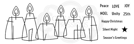 Woodware Craft - Clear Stamp - Stained Glass Candles