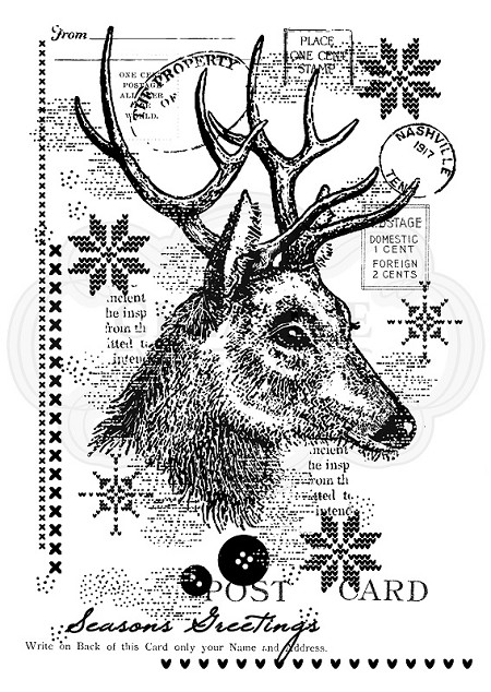 Woodware Craft - Clear Stamp - Vintage Deer