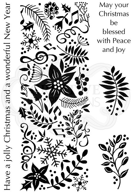 Woodware Craft - Clear Stamp - Festive Panel