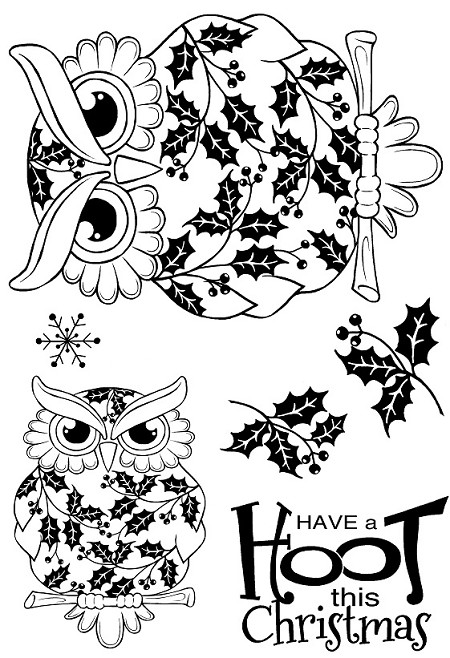 Woodware Craft - Clear Stamp - Christmas Owl