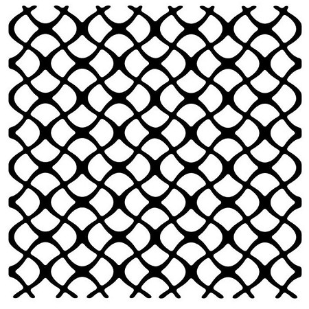 "Woodware Craft - 5.75"" stencil - Scaly Mesh"