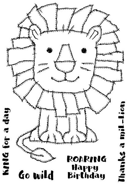 Woodware Craft - Clear Stamp - Raggy Lion