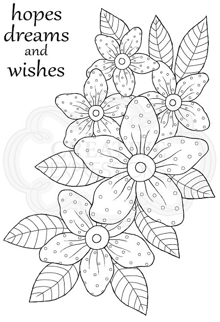 Woodware Craft - Clear Stamp - Sunny Daisies