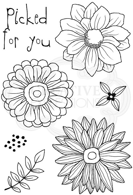 Woodware Craft - Clear Stamp - Picked For You