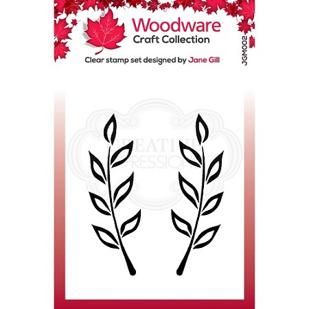 Woodware Craft - Clear Stamp - Fiona Leaf